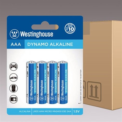 120 Adet Westinghouse AAA Alkalin İnce Pil