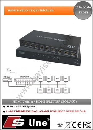 1X8 HDMI Splitter